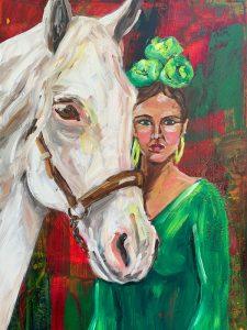 verde andaluz a caballo